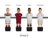 Stolní fotbal, fotbalové hráče. Skupina g - Německo, Portugalsko, ghana, Spojené státy
