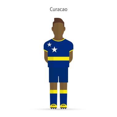 Curacao football player. Soccer uniform.