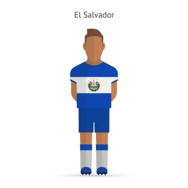 El Salvador football player. Soccer uniform.