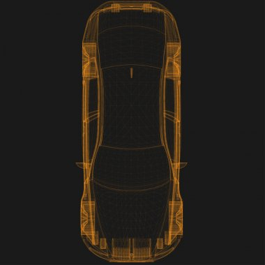 wireframe car top