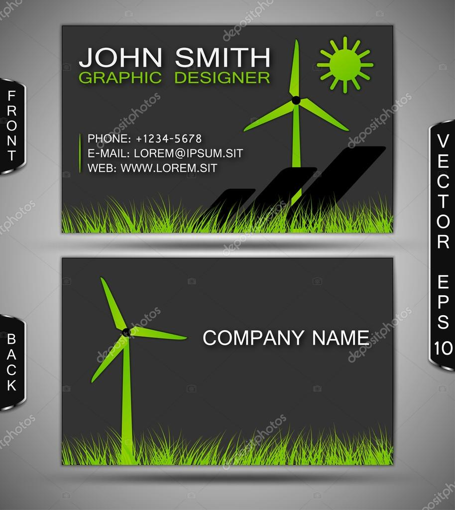 Green energy business card stock vector feri123 20996237 green energy business card stock vector reheart Images