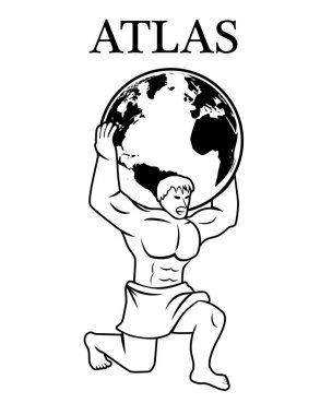 Atlas supporting the world