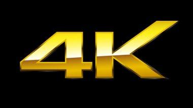 4K Sign (Gold) , EPS10 Vector
