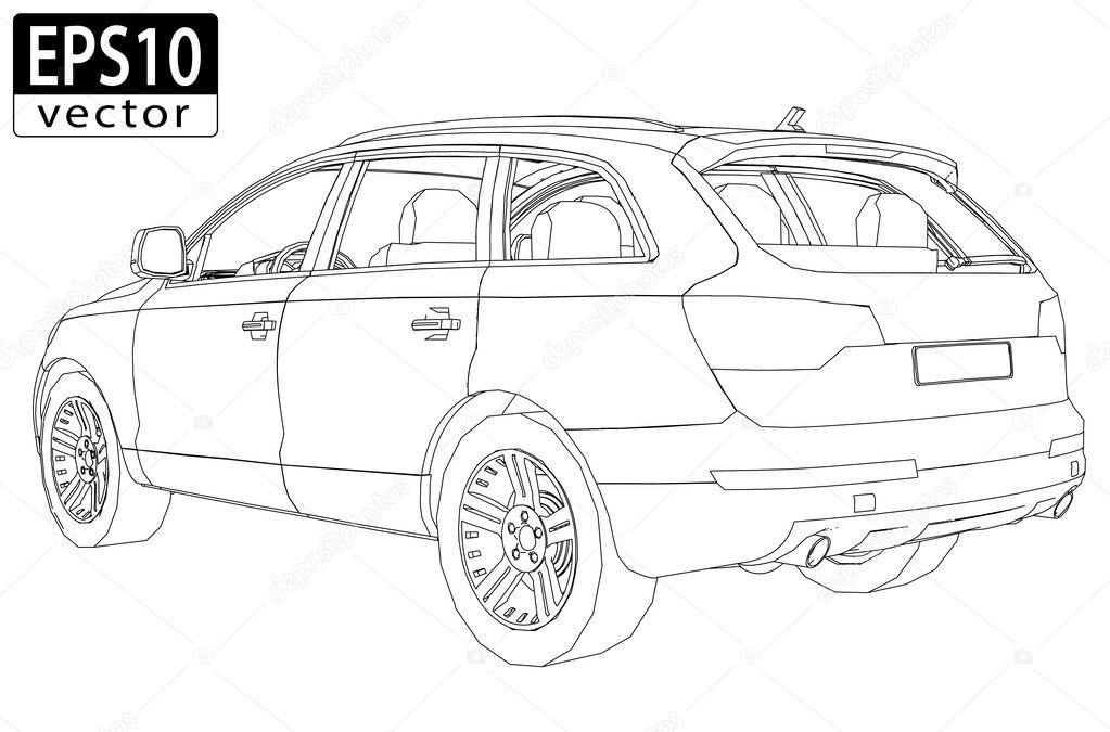 Auto-Rahmen — Stockvektor © Feri123 #36650365