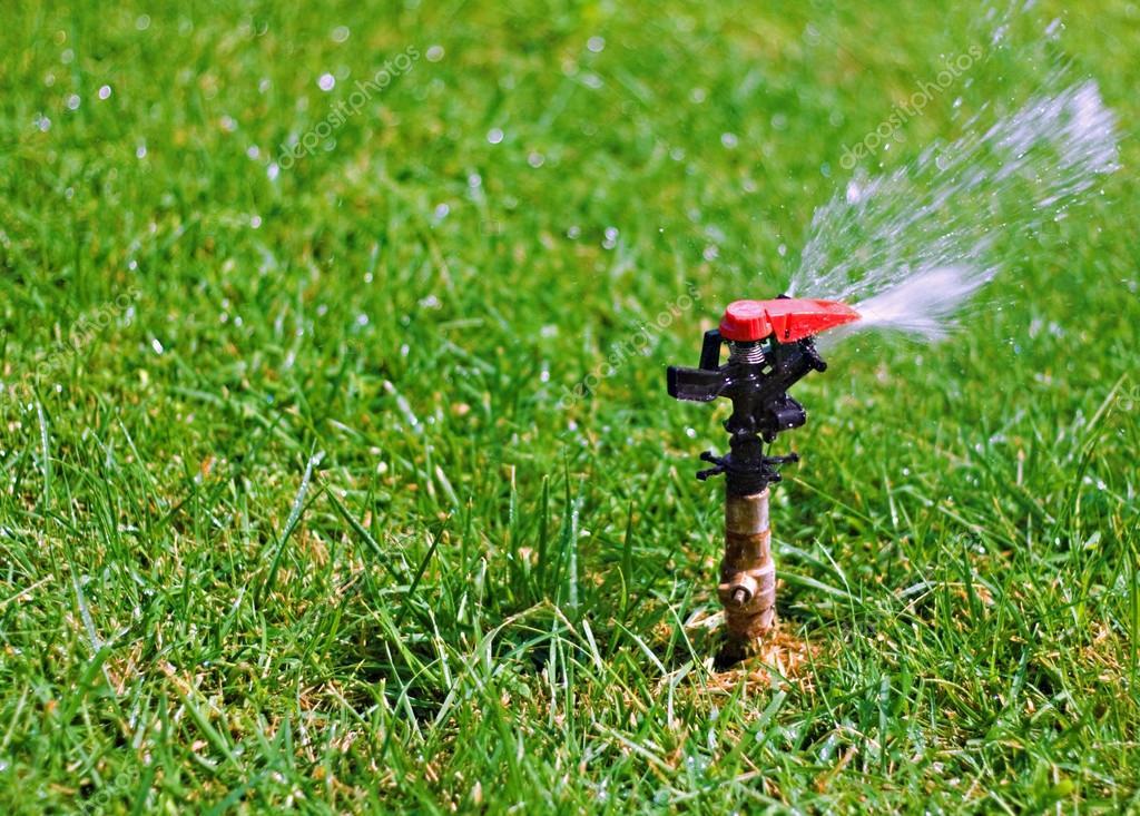 Aspersor de gua do jardim gramado fotografias de stock - Aspersor de agua ...