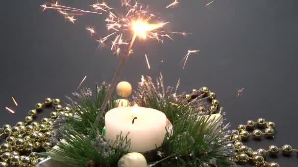 ohňostroj a svíčka dekorace