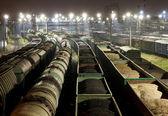 Fotografie Güterbahnhof bei Nacht