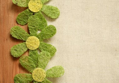 Canvas background with flowers