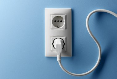 wire and wall socket