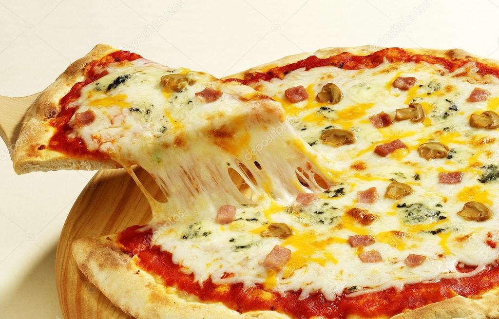 four cheese pizza stock photo estudiosaavedra 35258047. Black Bedroom Furniture Sets. Home Design Ideas