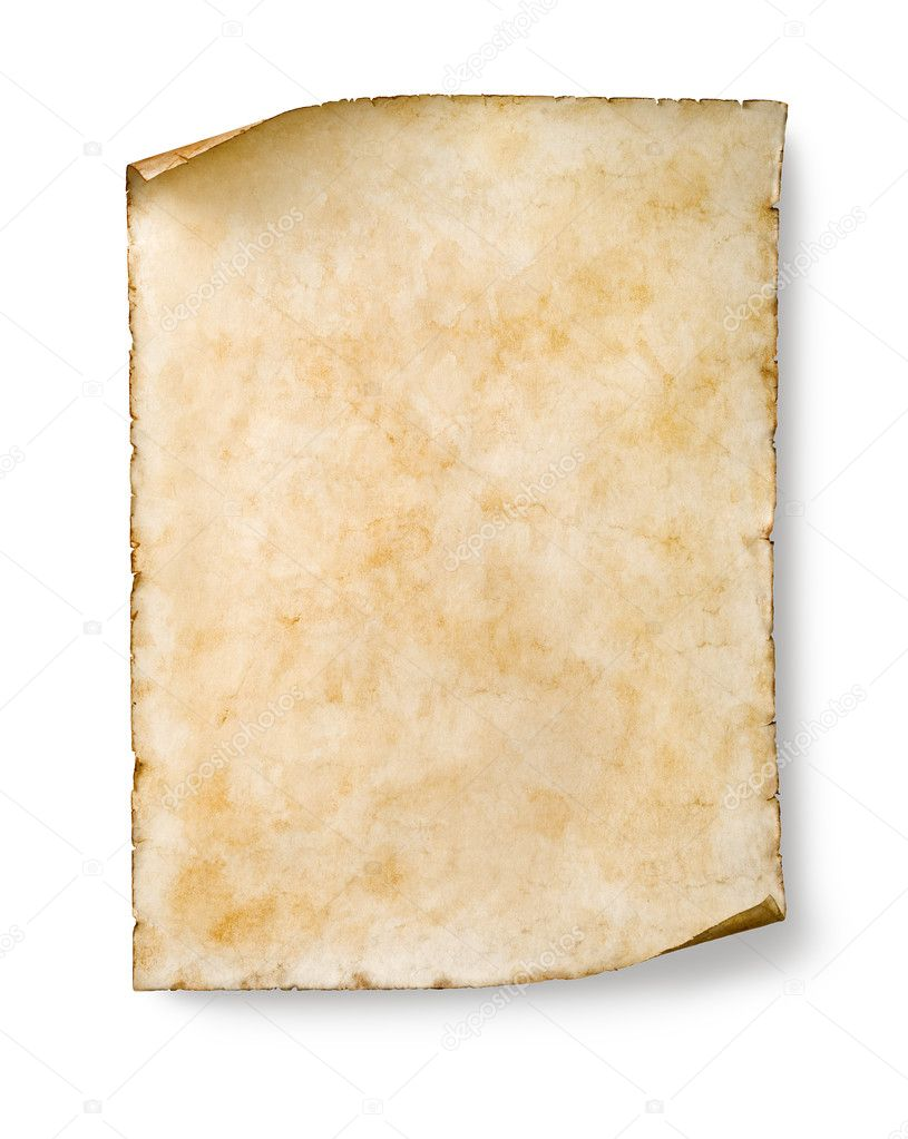 old parchment isolated