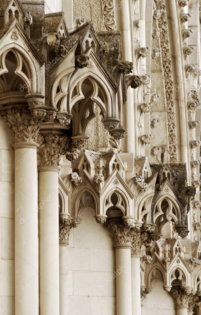 Gothic Architecture Detail Stock Photo