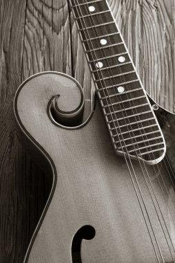 old mandoline sepia picture