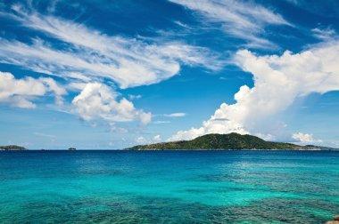 Cloudscape and seascape view