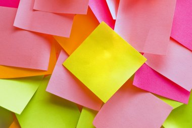 Colorful blank post it notes
