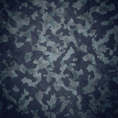 Grunge military background. Camouflage pattern over american flag, scratched stock vector