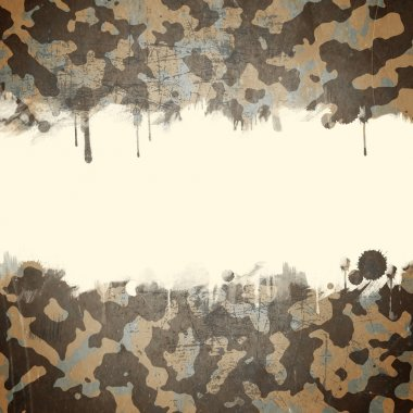 Desert army camouflage background with a space for text