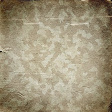 Grunge military background. Camouflage pattern on a paper texture stock vector