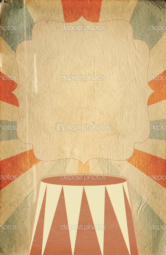plantilla de cartel de estilo retro circo sobre fondo de rombo con ...