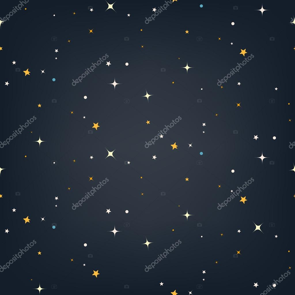 Night sky with stars seamless vector pattern