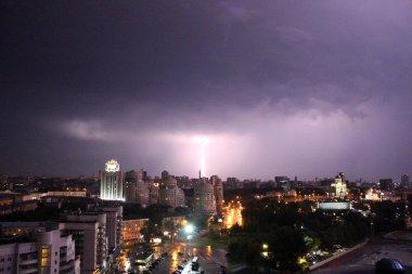 Rain in the city of Ekaterinburg