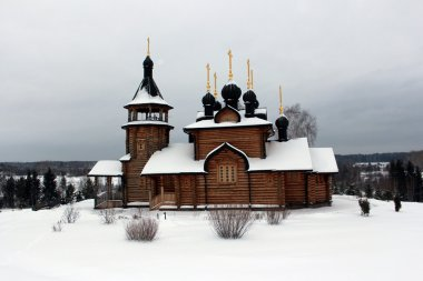 Wooden Church of All Saints in the Urals and Siberia