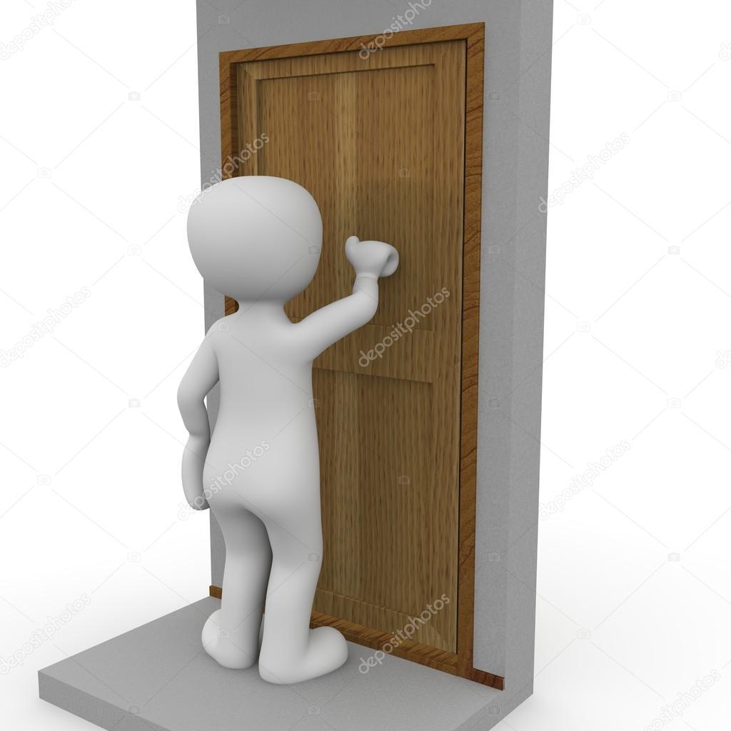 A 3D character knocks on a door. \u2014 Photo by 3D-Agentur  sc 1 st  Depositphotos & Knocking on the door \u2014 Stock Photo © 3D-Agentur #25770697