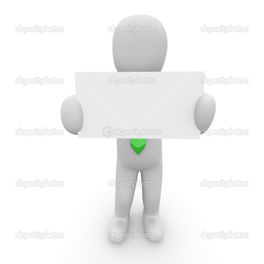 Un Caractere Est La Carte De Visite Lentreprise Image 3D Agentur