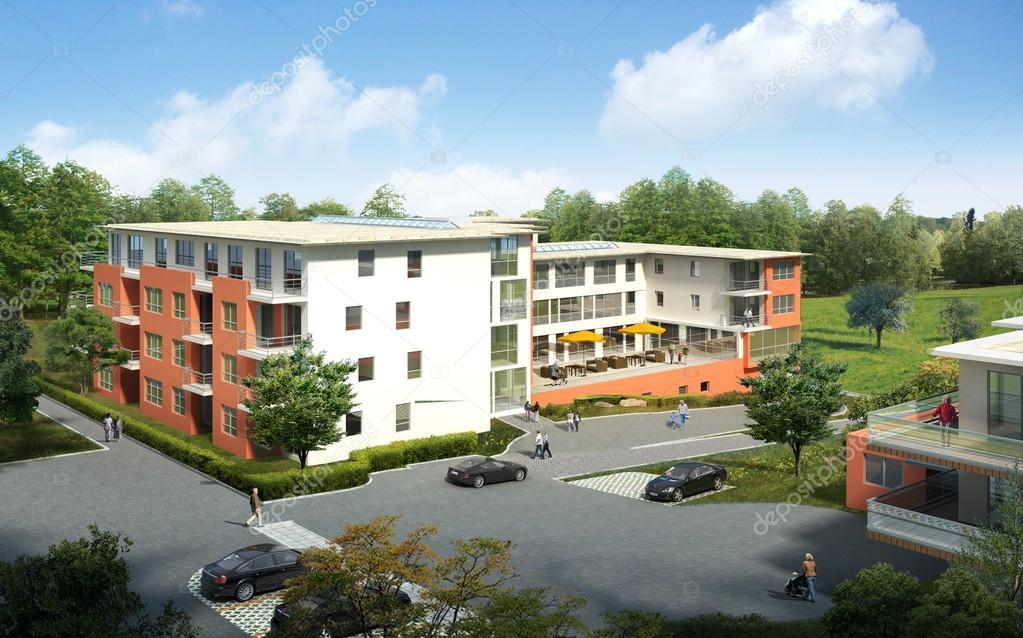 Rendering 3d di una casa foto stock 3d agentur 27622695 for Kerala 3d piani di casa