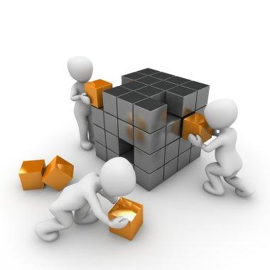 Cube building
