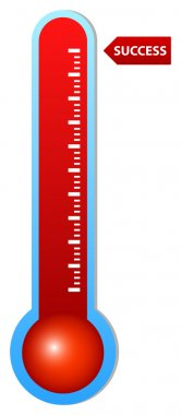 Illustration Of Thermometer Indicating Success clip art vector