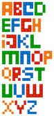 stavební bloky abecedy písmo