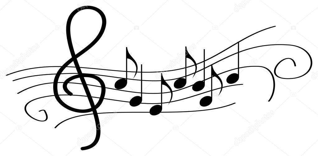 Картинки Скрипичный ключ ноты сердце на рабочий стол