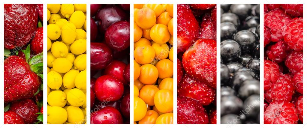 Fresh Summer Fruits Collage