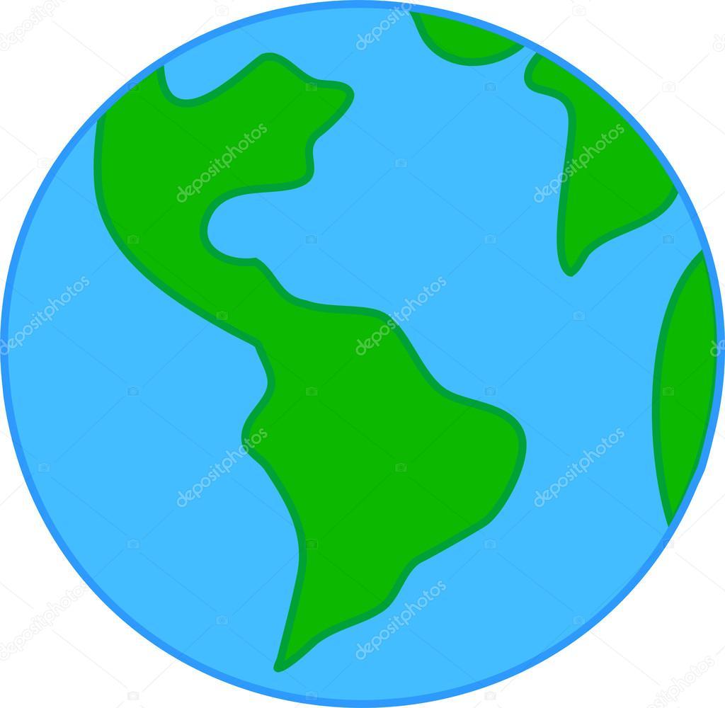 Dessin Planète Terre enfant dessin esquisse de la planète terre — image vectorielle