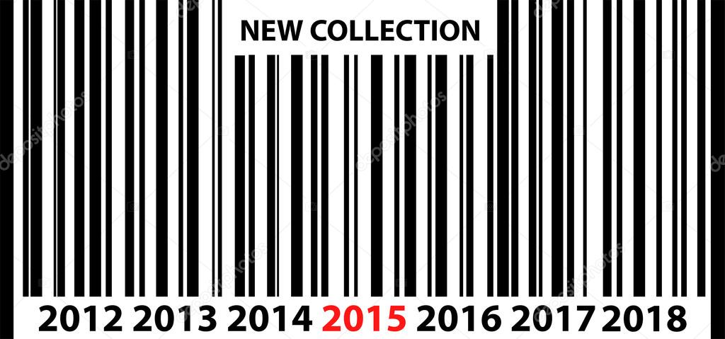 nuevo c digo de barras colecci n 2015 precio vector de