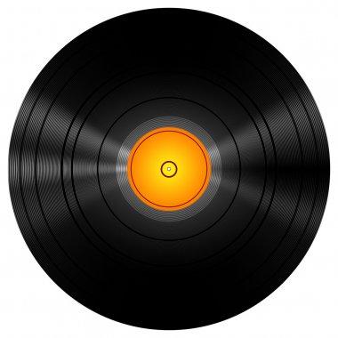 Golden Vinyl Disc Record
