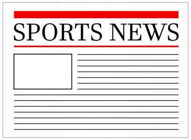 Sports News Headline In Newspaper