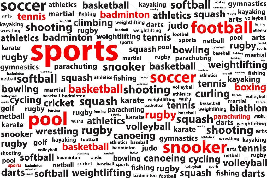 categorías deportivas la palabra nube — Vector de stock © radub85 ... 72221612fa975