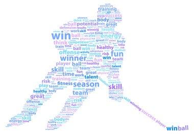 Hockey Player Sports Word Cloud