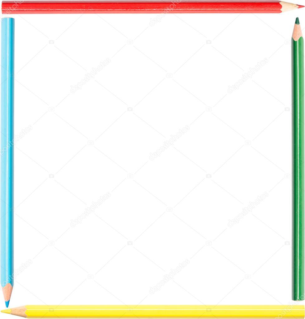 Objetos De Forma Cuadrada Para Colorear Lápices Para Colorear