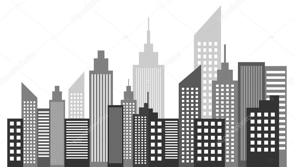 modern metropolis city skyscrapers skyline stock vector radub85 rh depositphotos com skyscraper silhouette vector free singapore skyscraper vector