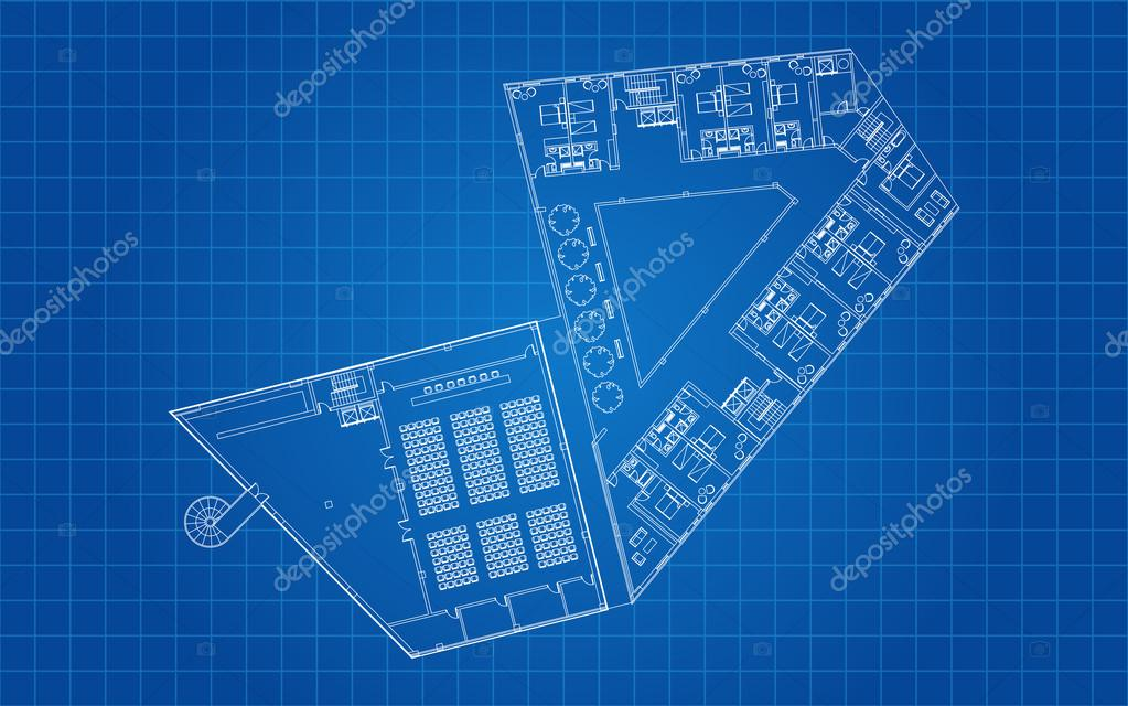 Modern hotel floor architectural plan blueprint stock vector modern hotel floor architectural plan blueprint stock vector malvernweather Choice Image