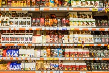 Chocolate Sweets On Supermarket Shelf