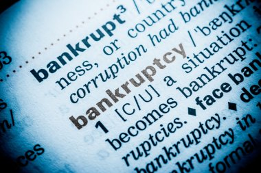 Bankruptcy Word Definition In Dictionary