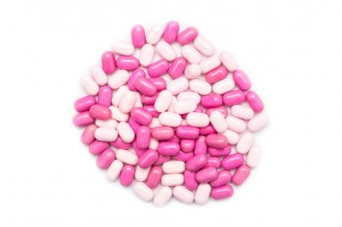 Pink Candy Mints Isolated