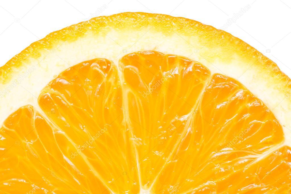 Orange Slice Peel Isolated