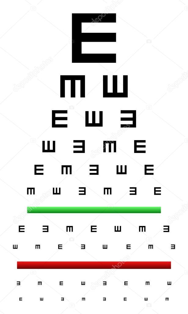 Eye Chart Test Stock Vector Radub85 42129209