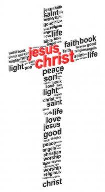 Jesus Christ Abstract Cross