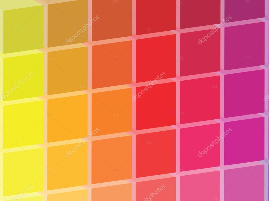 palette de carrés de couleur chaude — Photographie radub85 © #42460305